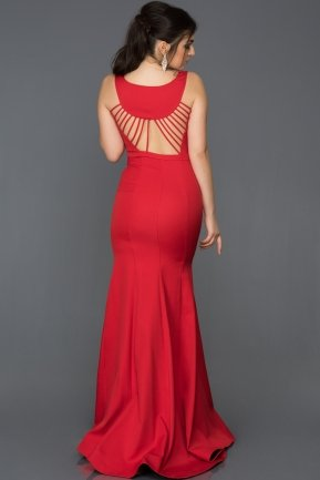 Long Red Mermaid Evening Dress AB2534