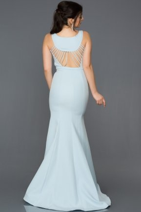 Long Blue Mermaid Evening Dress AB2534