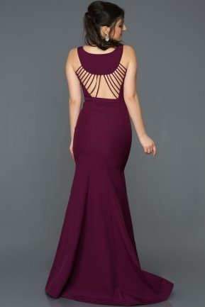 Long Plum Mermaid Evening Dress AB2534