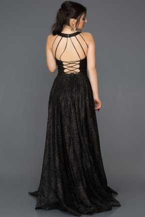 Long Black Engagement Dress AN2556