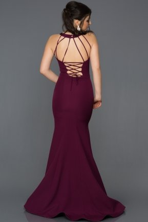 Long Plum Mermaid Evening Dress AN2586