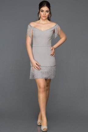 Grey Invitation Dress ABK006
