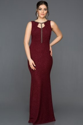 Long Burgundy Mermaid Prom Dress AR39048