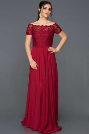 Long Red Evening Dress T3071