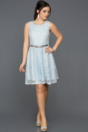 Short Blue Evening Dress ABK028