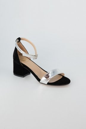 Silver Suede Evening Shoes AB1002