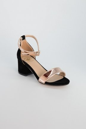 Rose Suede Evening Shoes AB1002