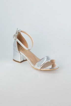 Silver Mirror Evening Shoes AB1005
