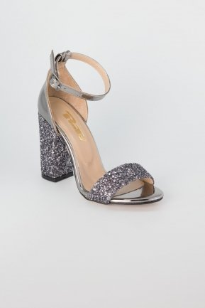 Platinum Silvery Evening Shoes AB1004