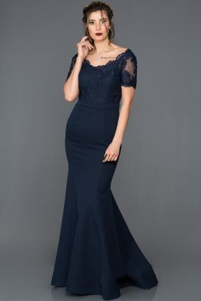 Long Navy Blue Evening Dress AN2492