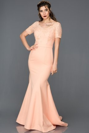Long Salmon-Evening Dress AN2492