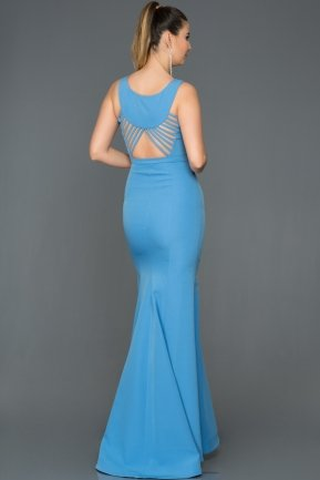 Long İndigo Mermaid Evening Dress AB2534