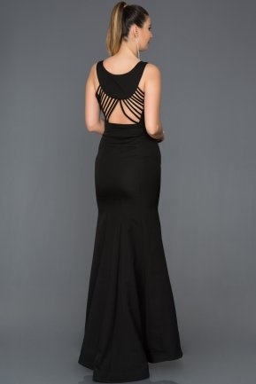 Long Black Mermaid Evening Dress AB2534