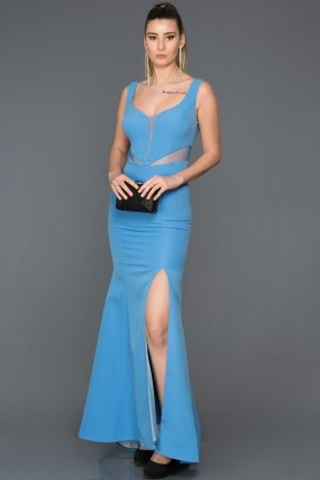 Long İndigo Prom Gown AN2574