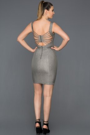 Short Grey Invitation Dress ABK052