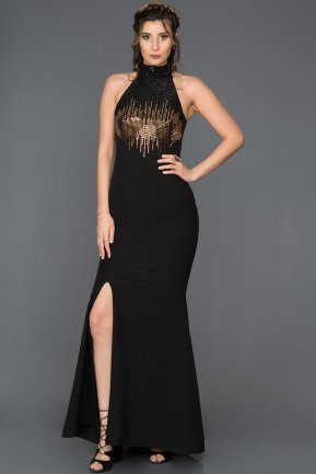 Long Black Mermaid Prom Dress F4381