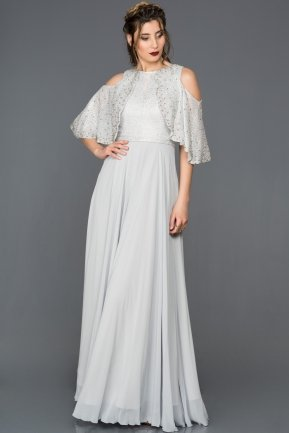 Long Grey Engagement Dress F4617