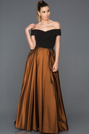 Long Copper Evening Dress AB1073