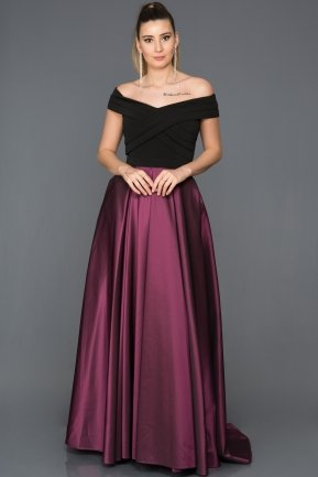 Long Purple Evening Dress AB1073