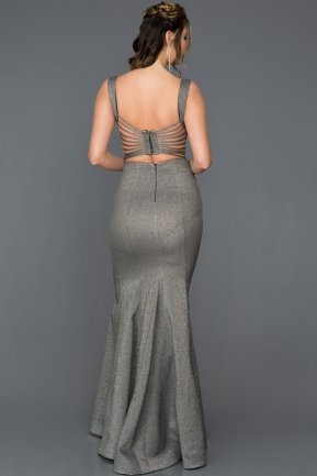 Long Grey Engagement Dress AB7437