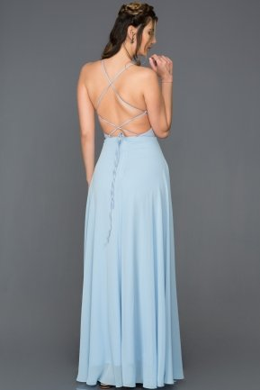 Long Light Blue Prom Gown ABU097