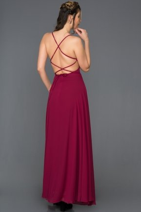 Long Plum Prom Gown C7447