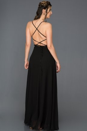 Long Black Prom Gown C7447