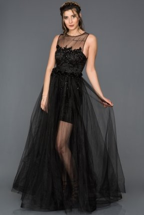 Long Black Engagement Dress CR6072