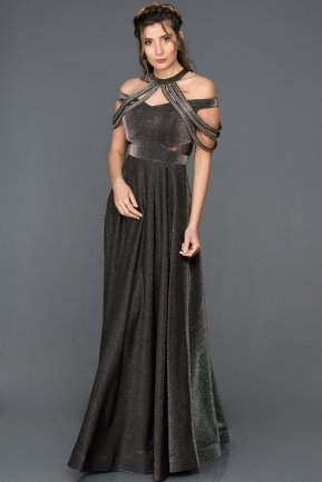 Long Black Engagement Dress CR6089