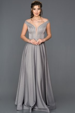 Long Grey Engagement Dress CR6090