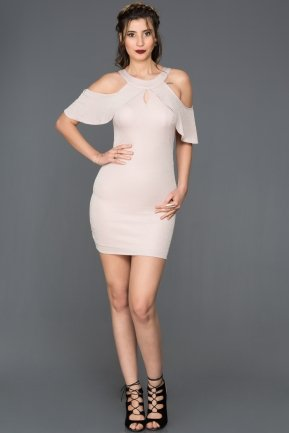 Short Powder-Color-Evening Dress DS438