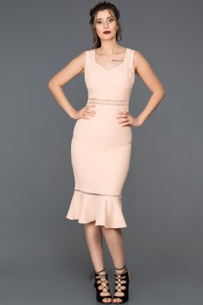 Prom Salmon Gown DS489