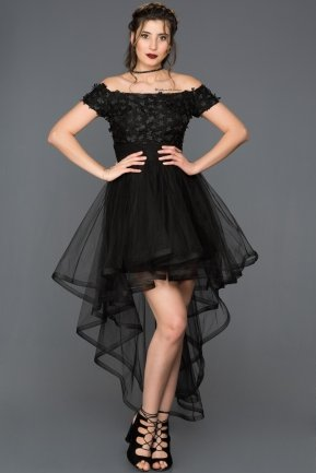 Short Black Invitation Dress DS490