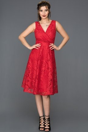 Red Invitation Dress DS552