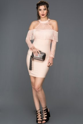 Mini Salmon Invitation Dress ES3773