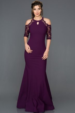 Long Purple Mermaid Prom Dress GG7092