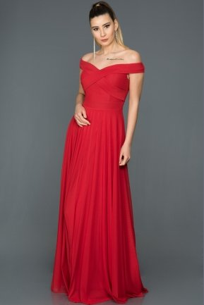 Long Red Evening Dress ABU008
