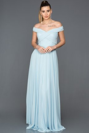 Long Blue Evening Dress ABU008
