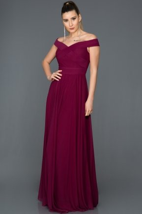 Long Plum Evening Dress ABU008