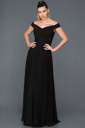 Long Black Evening Dress ABU008