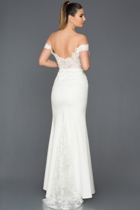 Long White Evening Dress ABU013