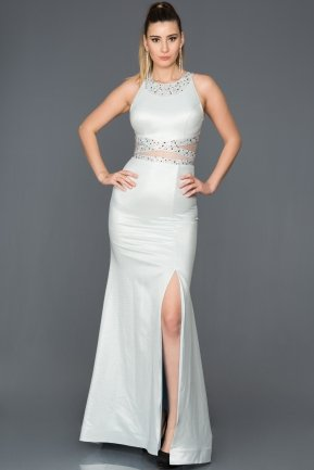 Long Ecru-Blue Mermaid Prom Dress AN2580