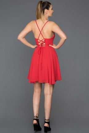 Short Red Prom Gown ABK001