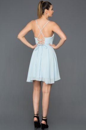 Short Blue Prom Gown ABK001