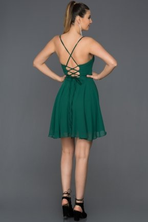 Short Emerald Green Prom Gown ABK001