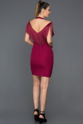 Short Plum Evening Dress C8088