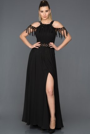Long Black Evening Dress F2751