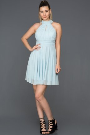 Short Blue Evening Dress ABK224