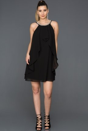 Short Black Evening Dress DS471