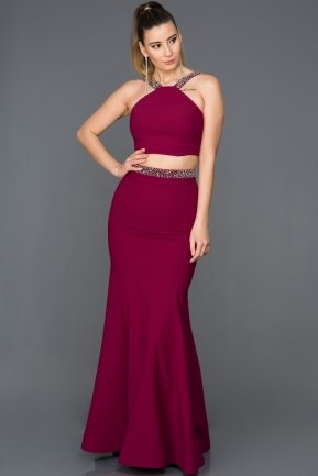 Long Plum Evening Dress GG6931